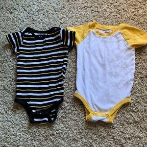 Black and yellow onesie set